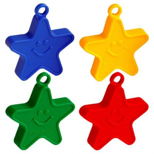 Primary Coloured Star Balloon Weights - 100g (each)